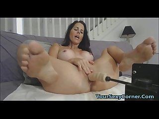 My tight latina friend ravaged by my fucking machine