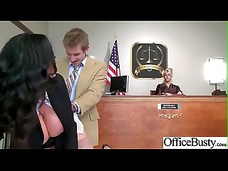 Horny Busty girl lpar Nikki benz rpar in hard style banged in Office Video 20
