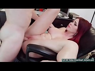 Curly animates redhead doll Skyla Novea joinass