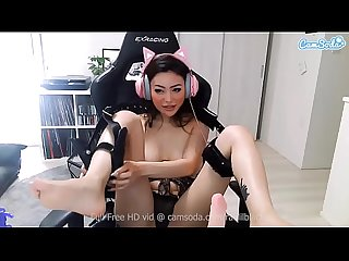 Camsoda - Rae Lil Black Big Tits Blowjob and Masturbation