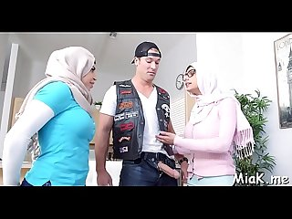 Handsome three-some with arab sluts