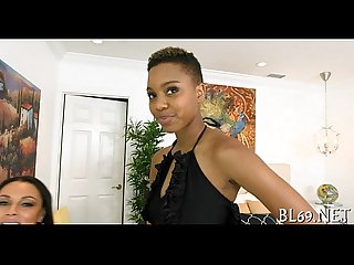Ebony undresses to have a pleasure sex
