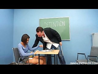 Sexy Little teen sucks and fucks her Teacher to make sure she gets an A