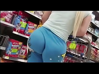 Filmed my sister's ass while shopping