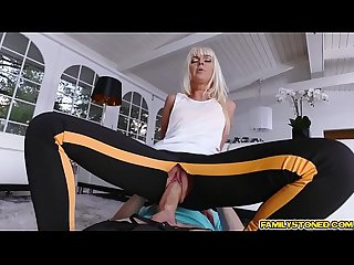Alex screw Marie McCays pussy balls deep on her rip leggings