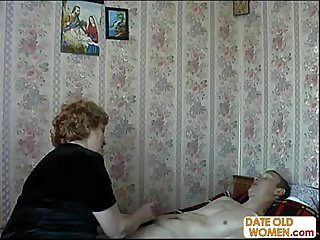Fat ass granny fucks skinny guy