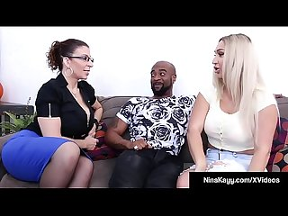 Naughty Nympho Nina Kayy Fucks Her Man & Attorney Sara Jay!