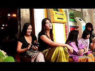 Bangkoks nana red light district in hd talking with ladyboys during the daytime