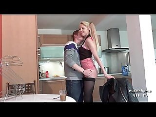 Pretty amateur french teen fucked hard by her boyfriend