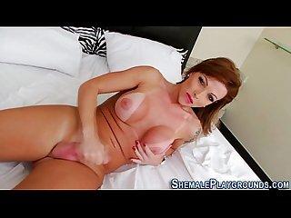 Fetish tranny masturbates