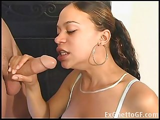 Black ghetto girl gives a handjob