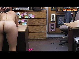 Latin chick pawns her TV and fucked hard at the pawnshop