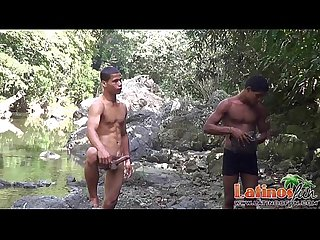Handsome brown twink stud sucked off by the river