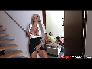 MILF force fucks daughter's BF OMG