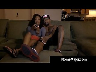 Horny jayla diamond has rome major S big black cock in 3way