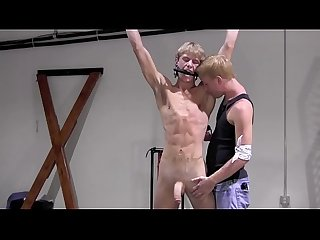 Monster Cock Teen Suspended & Whipped By Twink Master - BoundUpBoys.com