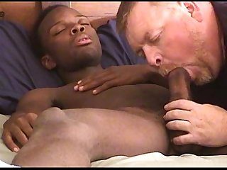 Auntie bob sucks black sailor S cock and swallows