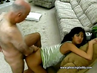 Sexy asian girl and the old pervert dave