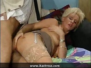 German classic horny mature Woman in The office