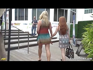 Hall of fame milf vicky vette plays with redhead penny pax in miami