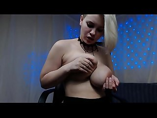 Russian sexy goddess pumping her milky boobs and fuck her anal with dildo