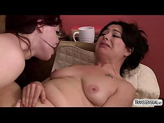 Horny redhead ts chelsea joins milf in an orgasmic touch
