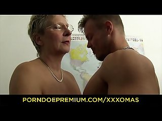 Xxx omas dirty german granny gets boned and covered in cum at the office