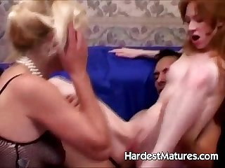 Young girl fucked by older couple