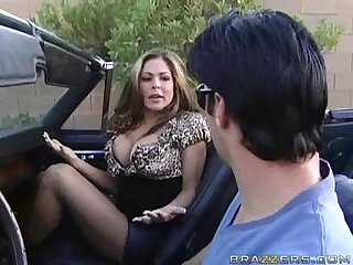 Milf blowjob in a muscle car