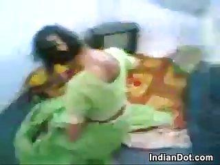 Frisky amateur indian couple doing it