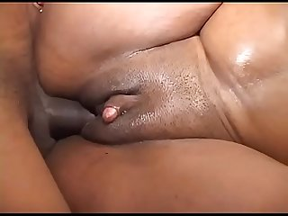 Chunky black girl fucked at home