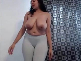 Milky boobed nri girl dancing naked after getting drunk