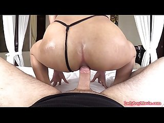 Ladyboy pink ass to mouth and raw dick riding
