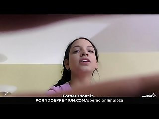 Operacion Limpieza beautiful maid matilde ramos squirting in hot pov fuck