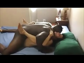 Yoga Hotwife Cuckolding Hubby WIth Superior Black Cock