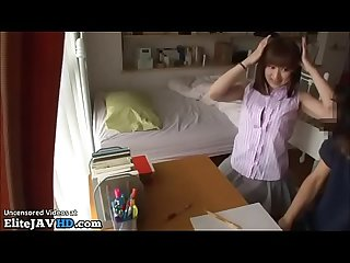 Japanese home teacher fucking shy student