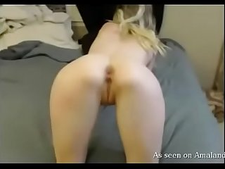 Submissive blonde fucked hard in all her holes