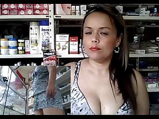 Horny Milf working and masturbating at the pharmacy part 13 getmycam com