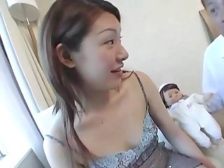 Sexy asian preggo seduced into sex