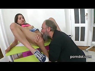Lovable college girl gets seduced and screwed by her older tutor