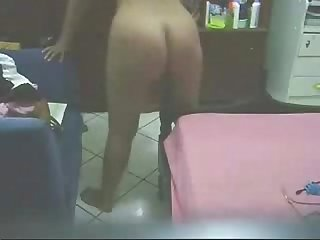 See what my mom is doing in her bed room great hidden cam