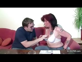 German mom show his step son how to fuck a girl