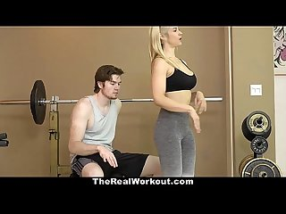 Therealworkout hot milf fucks Fitness client