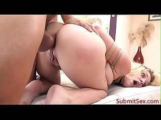 Pretty submissive slut assfucked by stalker