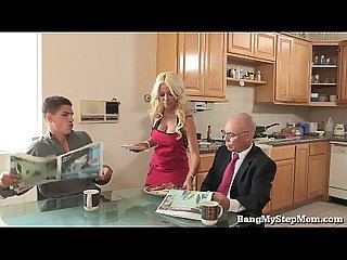 Whore wife cheats with her stepson