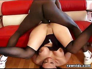 Nikki Hunter Raw DP Interracial Threesome