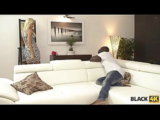 BLACK4K. Black-skinned dude licks and penetrates white twat