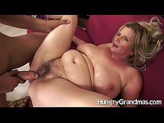 Hairy granny cunt for younger dude
