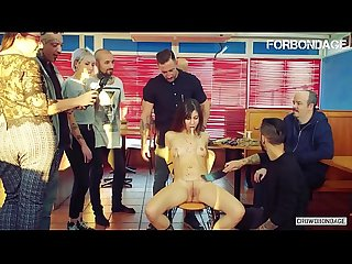 FORBONDAGE - Romanian Beauty Experience BDSM Group Sex For The First Time (Anya Krey & Emilio..