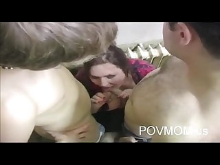 young russian slut mom fuck with two cocks and cum on face povmom.us